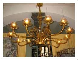 lampadario art deco : Grande lampadario Art Dec? color miele dorato in vetro di Murano ...