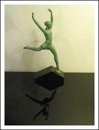 Scultura in antimonio Art Decò 'Ballerina '