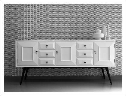 Credenza Moderna Anni 60 : Madia sideboard vintage anni rivistato in chiave moderna