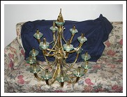 CEILLING LAMP FONTANA ARTE 18 LIGHT  50KG SOLID BRASS AND GLASS