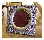 ANTIQUE EDWARDIAN STERLING SILVER PHOTO FRAME 1903